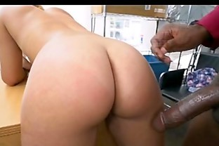 Kimberlee Bent Over Desk For Doggystyle With Black Dong