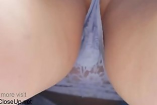 Horny Mom Upskirt Spy Cam Closeup Changing and Testing Panties
