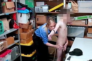 Big tit police lady fucks her inked big dick suspect