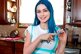 Blue Hair Cute Teen Has a Fuck With Her Step Brother POV : Jewelz Blu